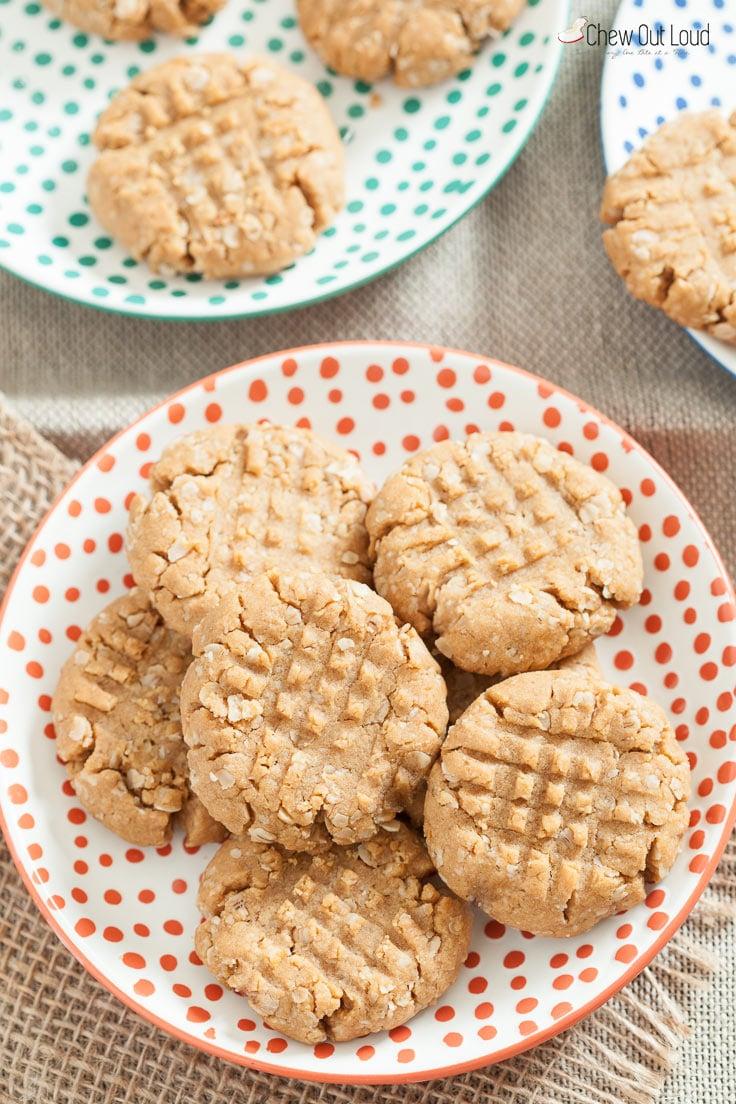gf-peanut-butter-oatmeal-cookies-3