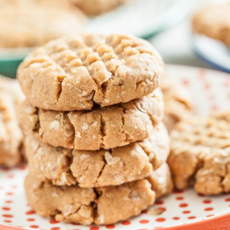 Peanut Butter oatmeal Cookies Gluten-Free
