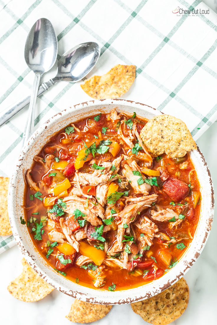 Healthy One Pot Chicken Chili Chew Out Loud