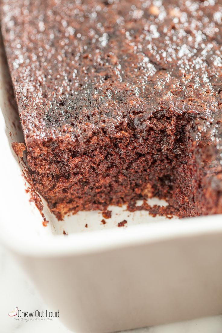 Chocolate Dump-it Cake with Chocolate Cream Cheese Frosting - Chew ...