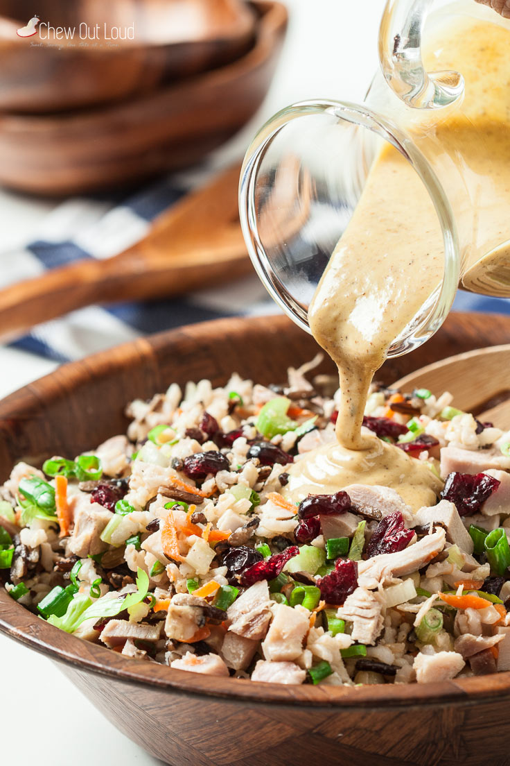 wild rice chicken or turkey salad 2