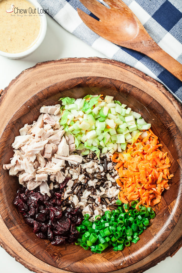 wild rice chicken or turkey salad