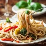 pasta primavera with vegetables