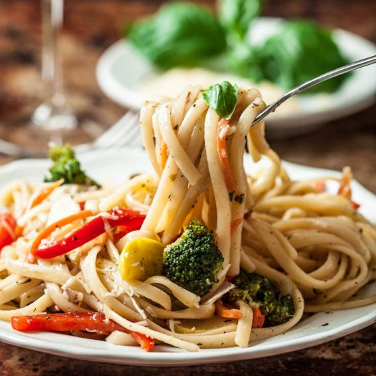 pasta primavera with vegetables