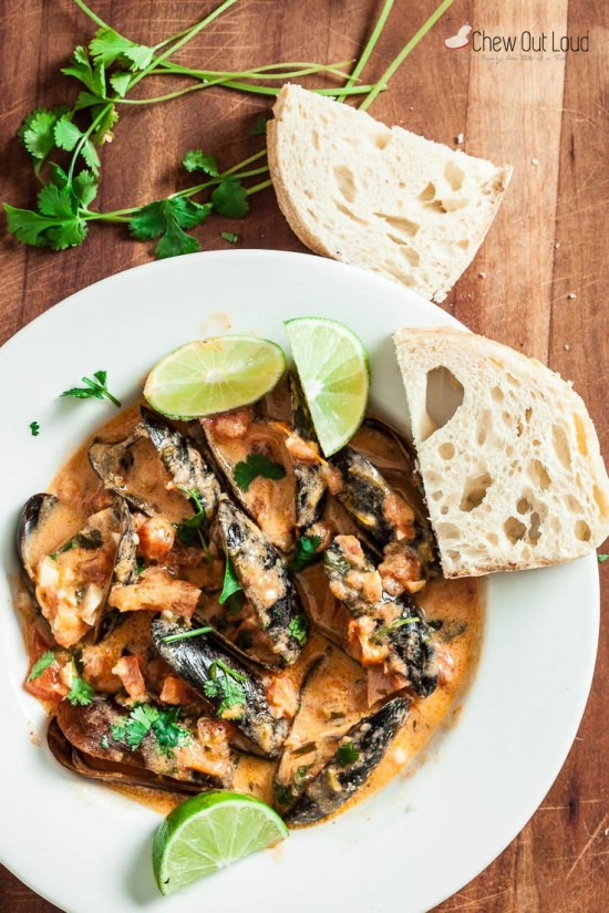 red thai curry mussels 2