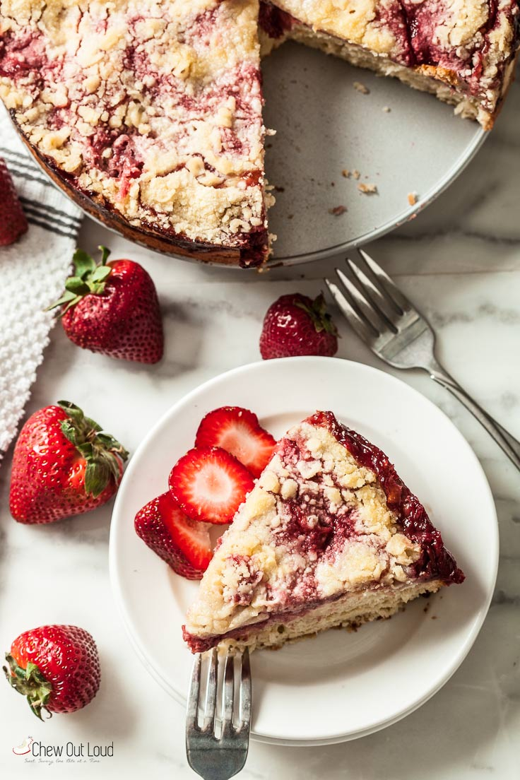 Fresh Strawberry Crumb Cake, strawberry cake