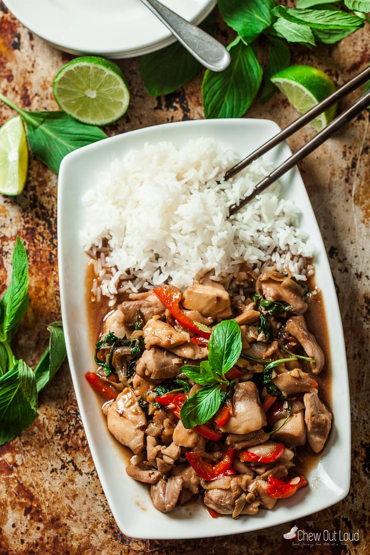 Thai basil chicken with peppers chew out loud thai basil chicken 2 forumfinder Image collections