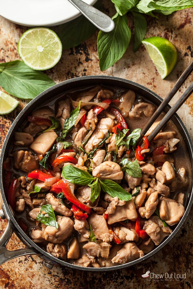Thai Basil chicken with Peppers 1