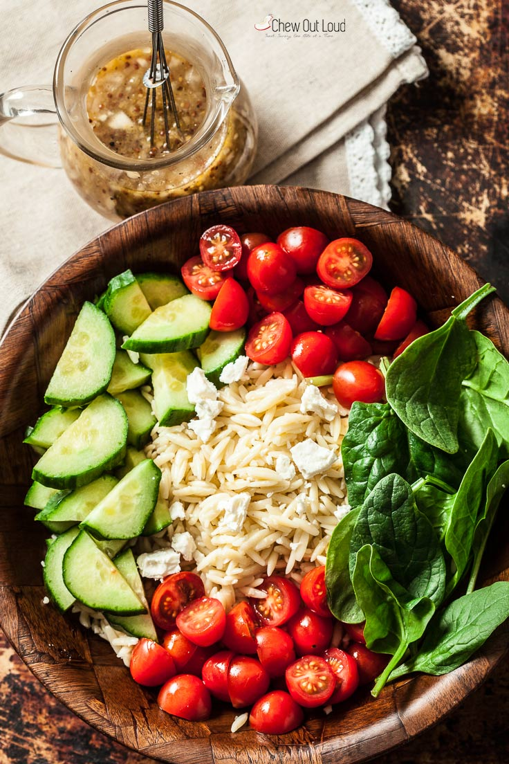 spinach orzo salad 2
