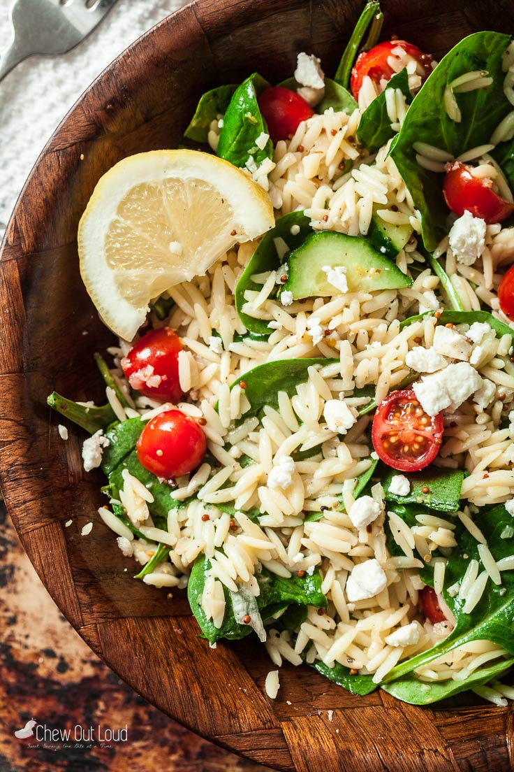 spinach orzo salad 5