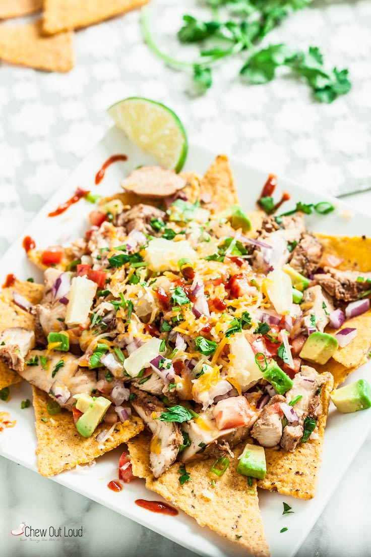 Hawaiian Chicken Nachos