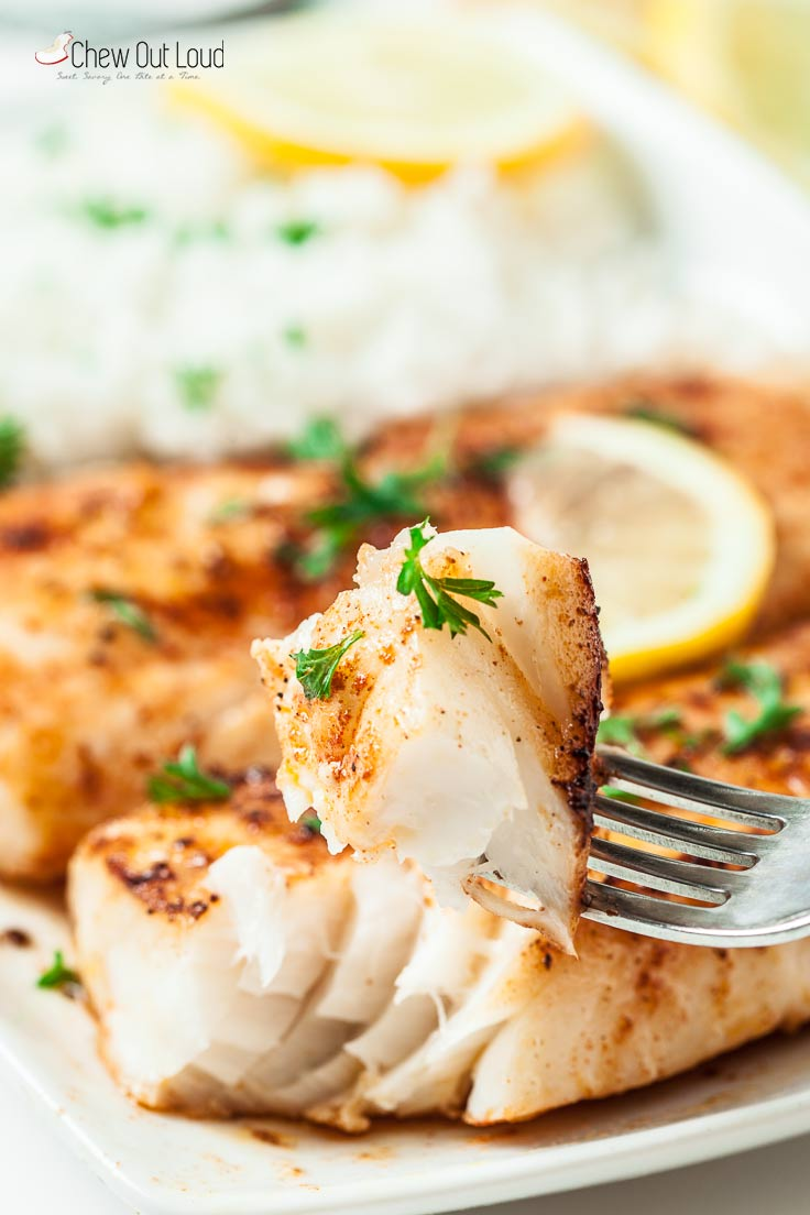 easy lemon butter fish in 20 minutes - chew out loud