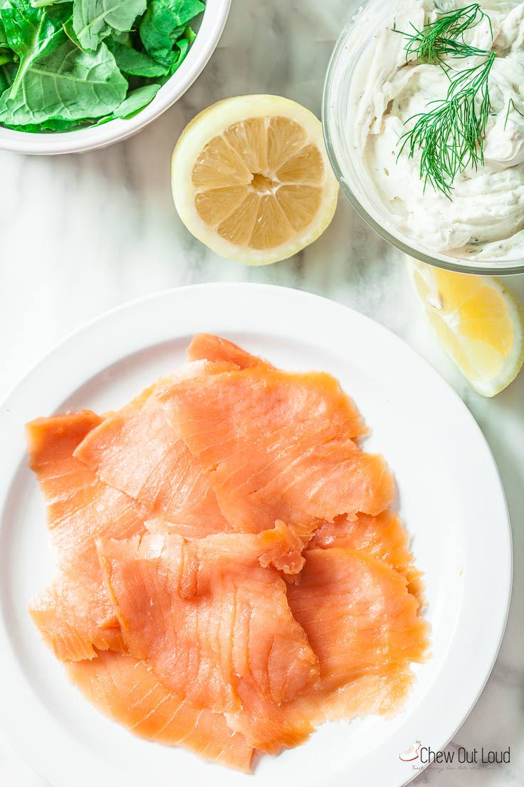 smoked salmon roll-ups