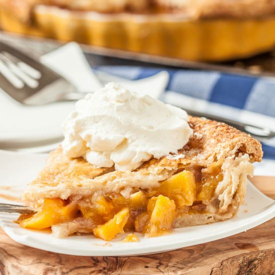 peach pie flaky butter crust