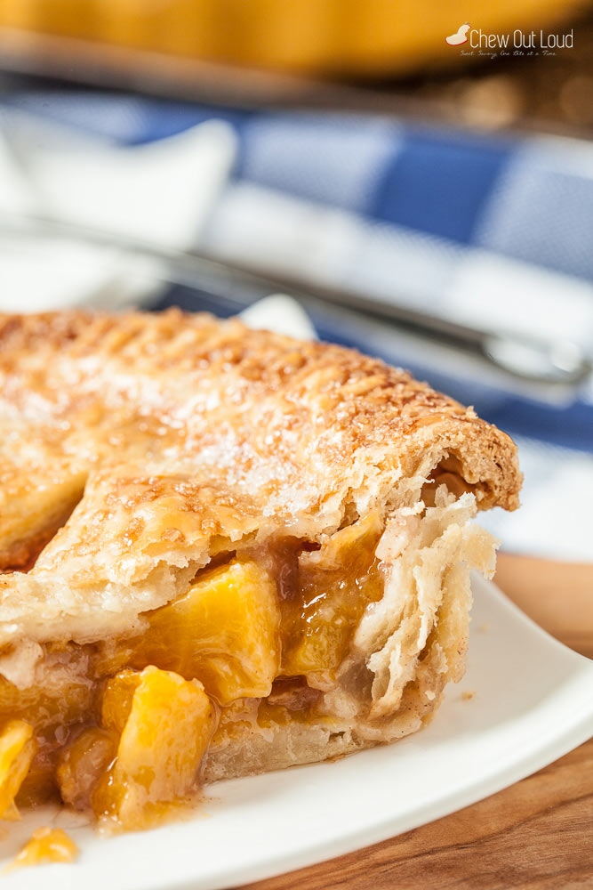 peach pie with butter crust