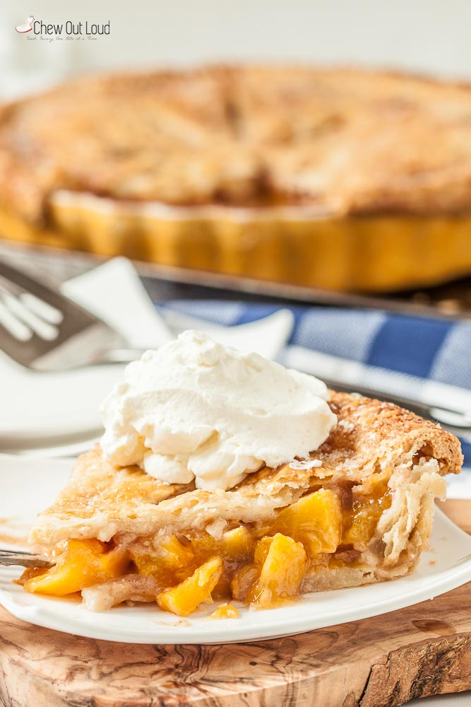 Slice of Fresh Peach Pie