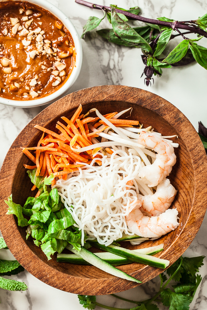 vietnamese spring roll bowl