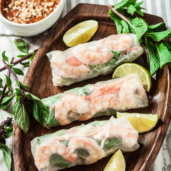 How to Make Vietnamese Spring Rolls (Gluten-Free) - Chew Out Loud
