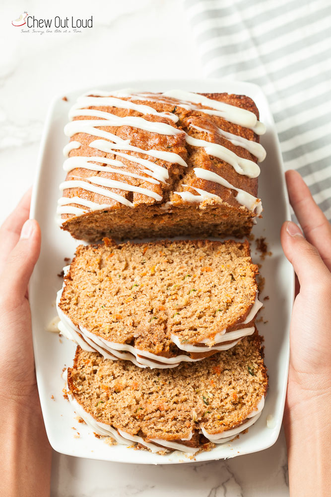 zucchini carrot bread, zucchini bread,  carrot bread, healthy quick bread