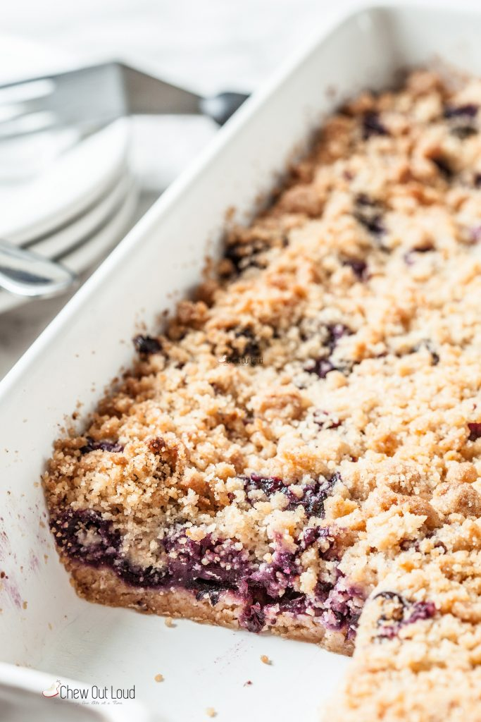 blueberry pie crumb bars