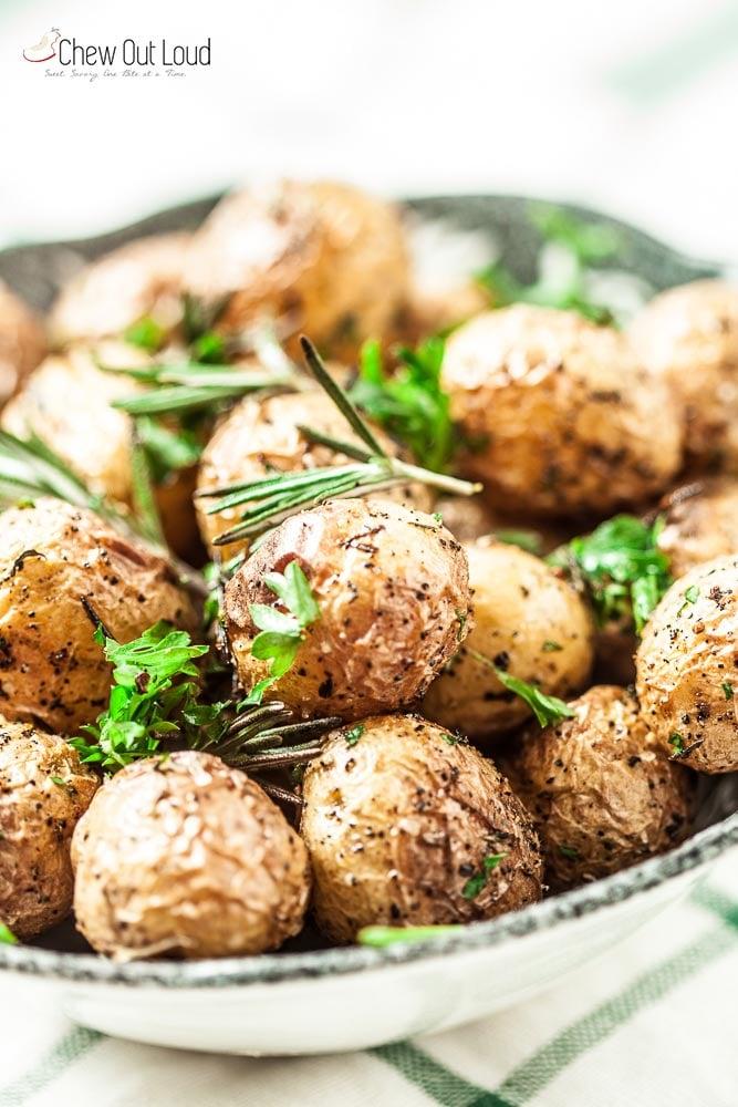 garlic herb roasted baby potatoes