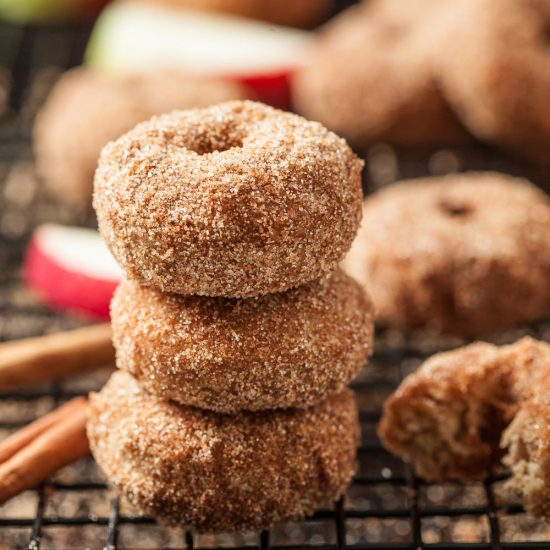cinnamon apple baked donuts