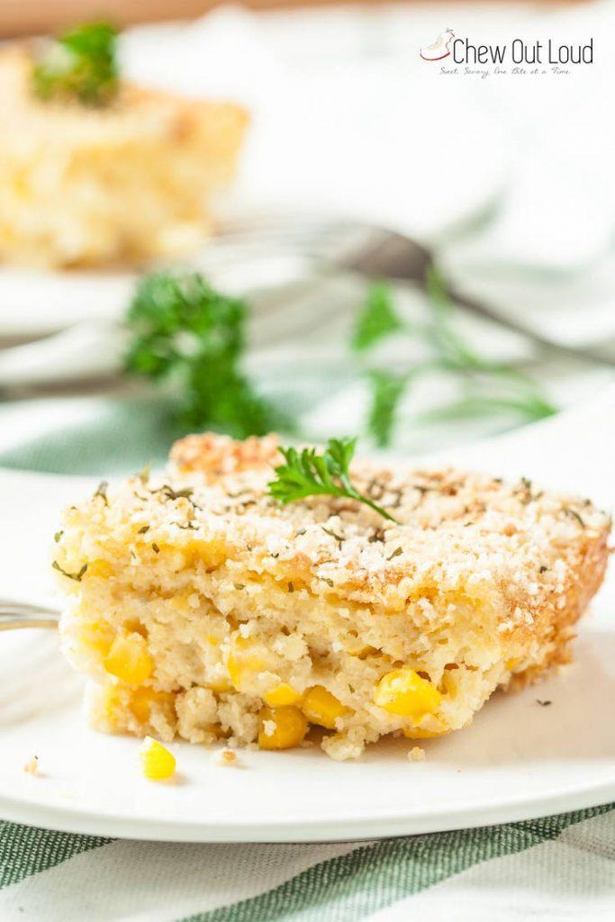 easy corn casserole recipe, corn soufflé