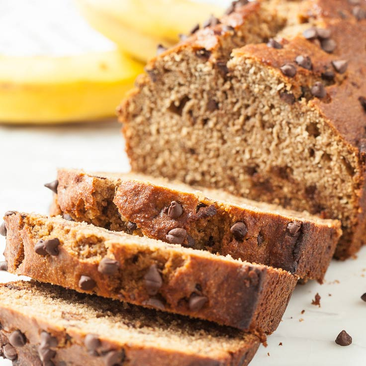 One Bowl Healthy Banana Bread No Refined Sugar Dairy Free Chew Out Loud