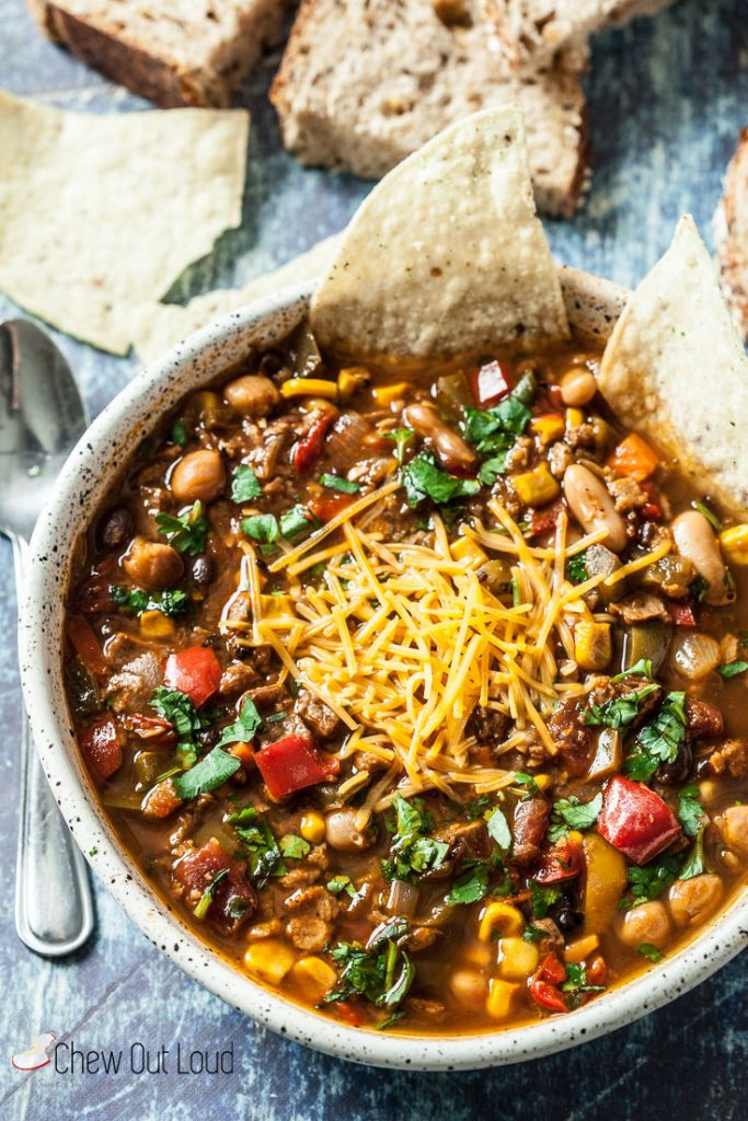The Best Vegetarian Chili Slow Cooker Or Stovetop Chew Out Loud