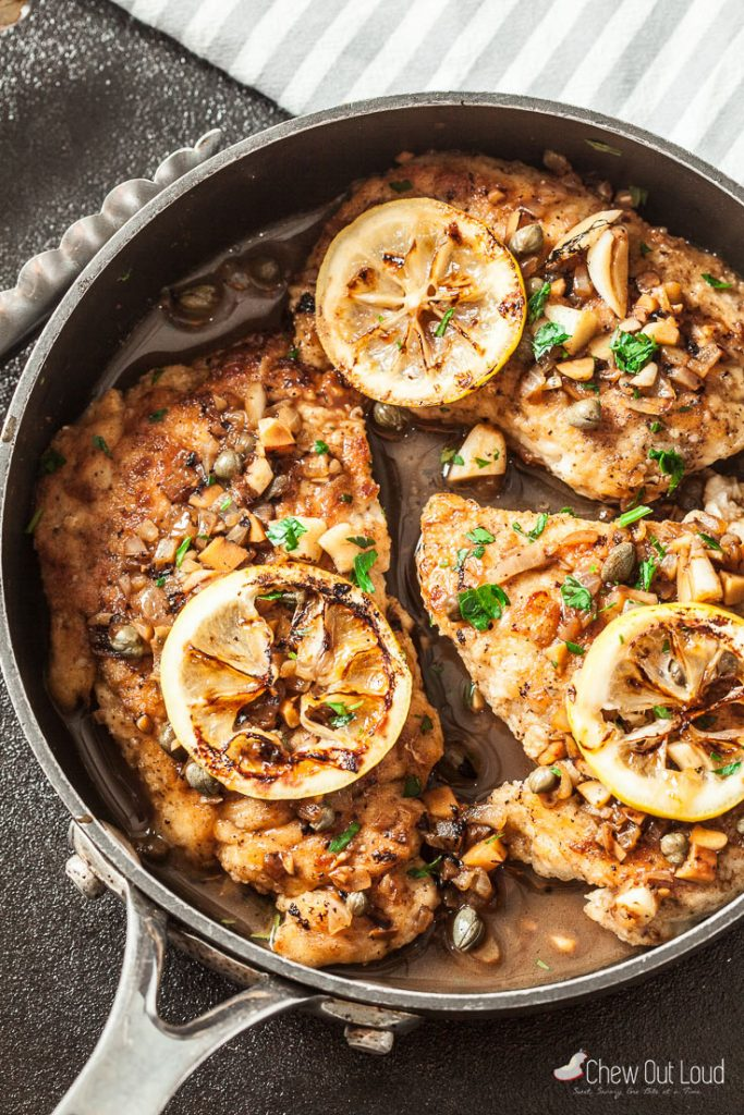 Easy Healthy Chicken Piccata Recipe Chew Out Loud