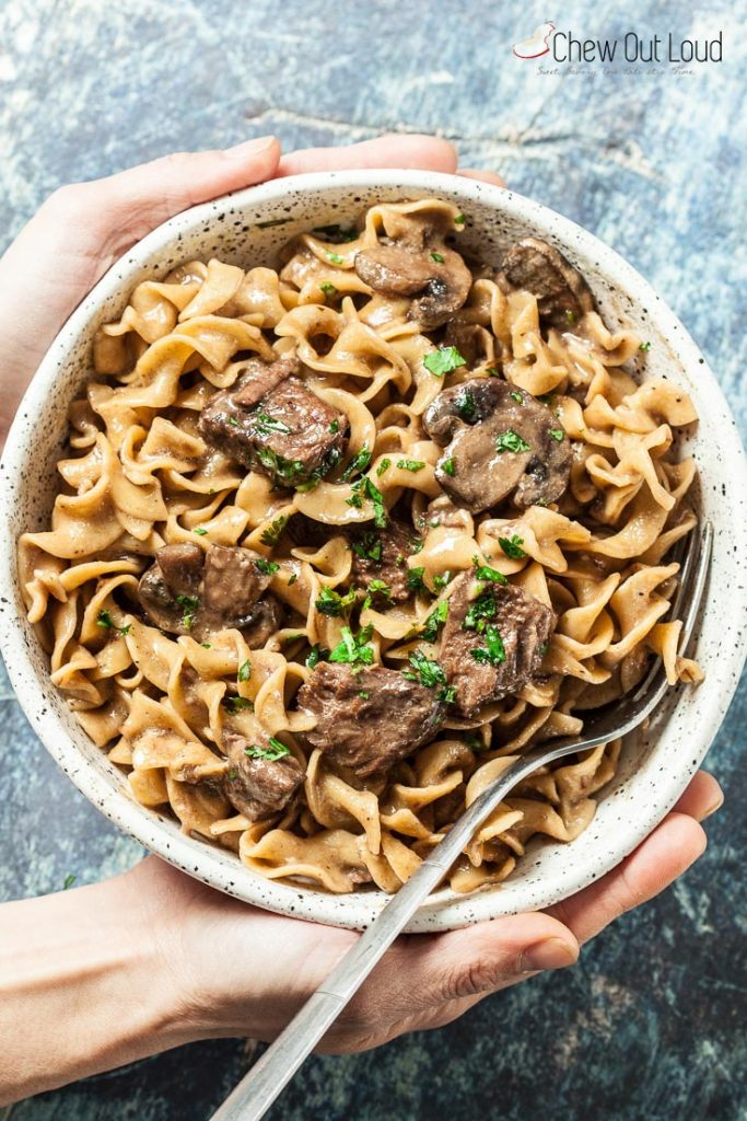 Instant Pot Beef Stroganoff Recipe - Chew Out Loud