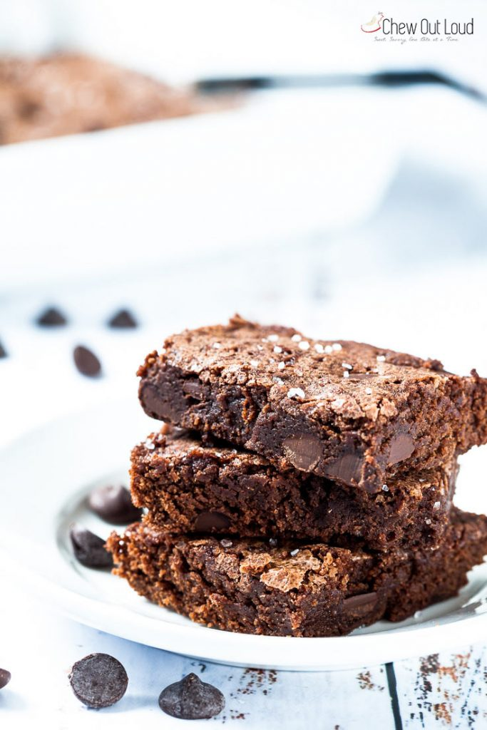 salted dark chocolate brownies recipe chewy brownies recipe fudgey brownies recipe
