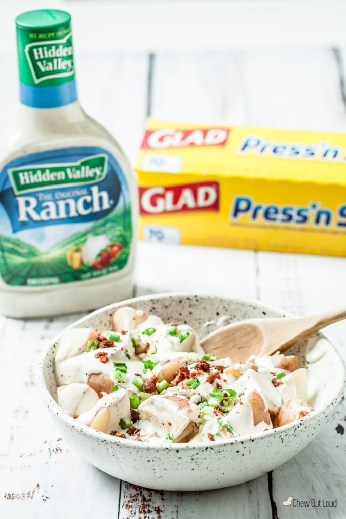 red potato salad recipe bacon ranch potato salad