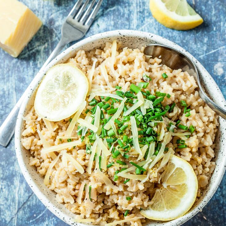 instant pot risotto recipe instant pot parmesan lemon risotto