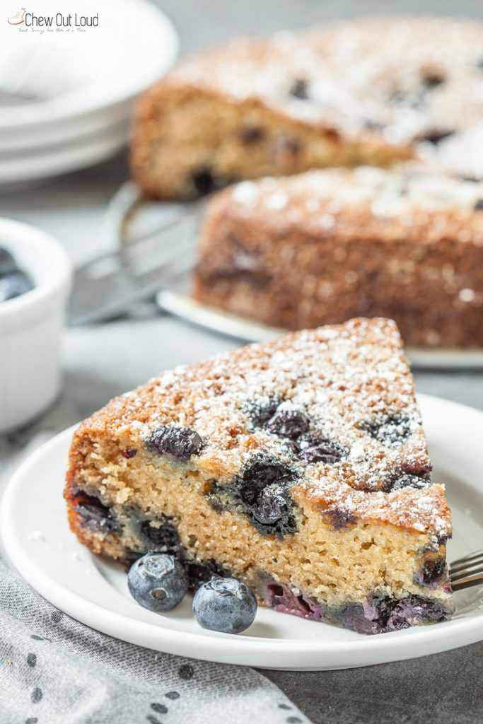 Easy Blueberry Sour Cream Cake Recipe