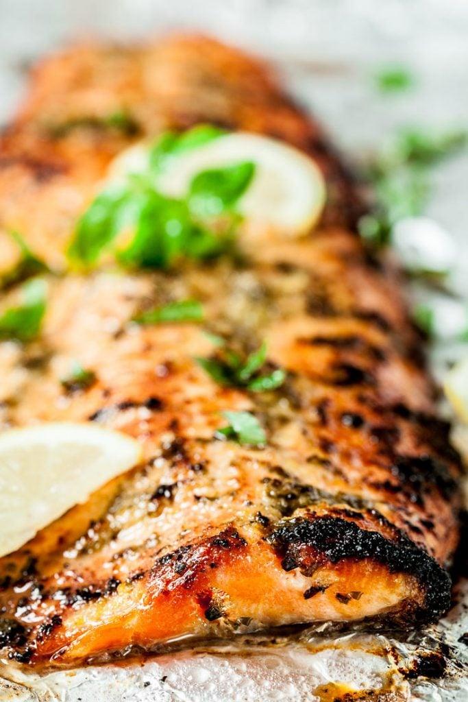 easy salmon recipe lemon basil salmon sheet pan salmon
