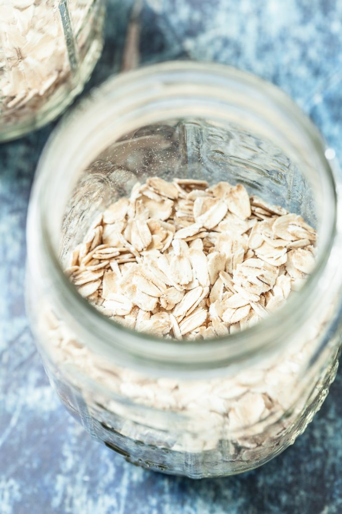 no-cook overnight oats in a jar