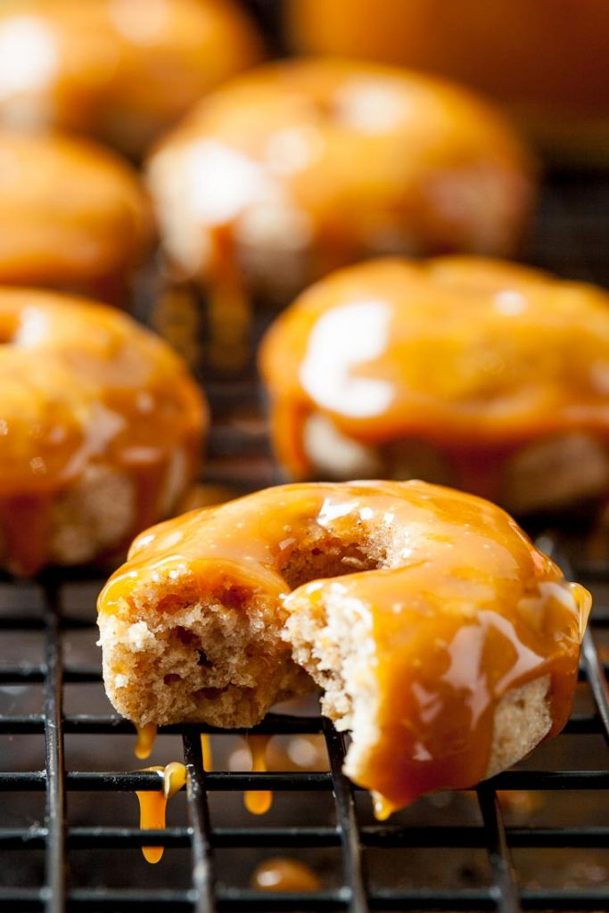 caramel apple baked donuts mini apple donuts