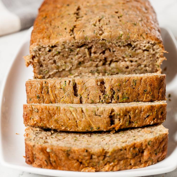 zucchini bread sliced