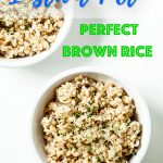 instant pot brown rice, perfect brown rice, instant pot rice recipe
