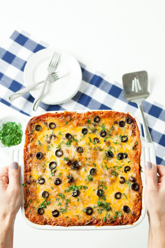 mexican breakfast casserole, enchilada breakfast casserole, overnight breakfast casserole