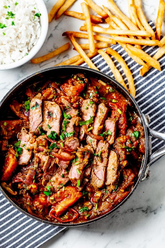 lomo saltado, peruvian, stir fry, peruvian beef recipe