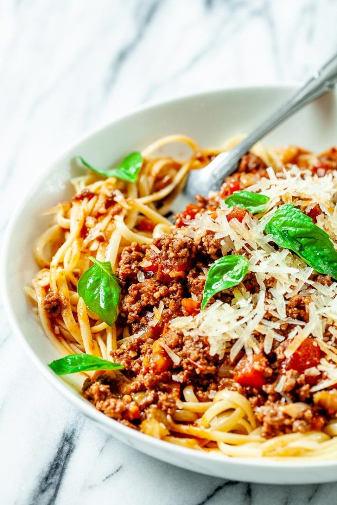 instant pot bolognese sauce, best bolognese sauce, bolognese pasta