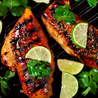 Grilled Chicken with Garlic Lime Marinade