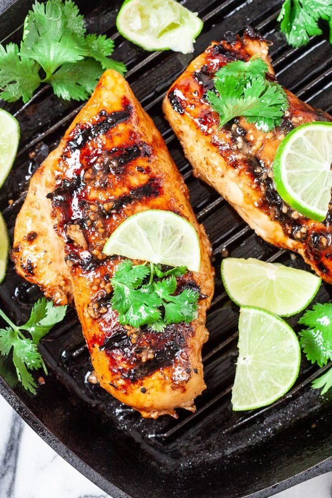 garlic lime grilled chicken, garlic chicken, lime chicken, grilled chicken
