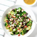 broccoli salad, apple salad