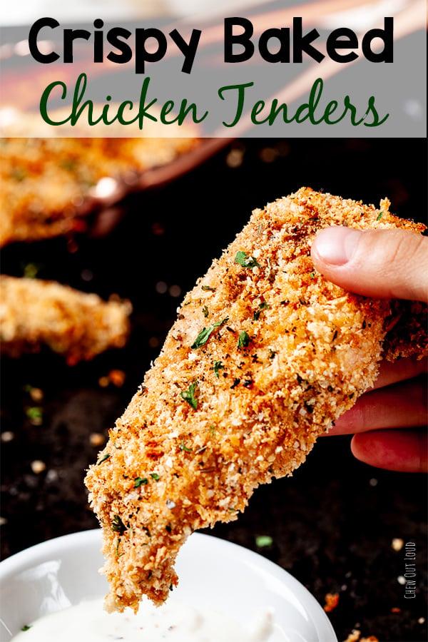 Crispy Baked Chicken Tenders Panko Chew Out Loud