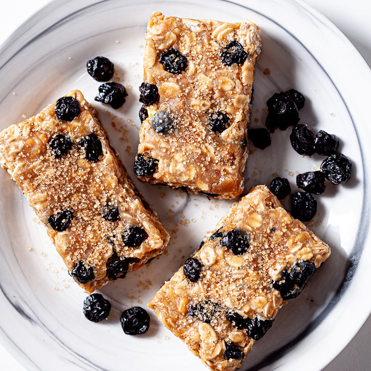 Protein Bars on plate