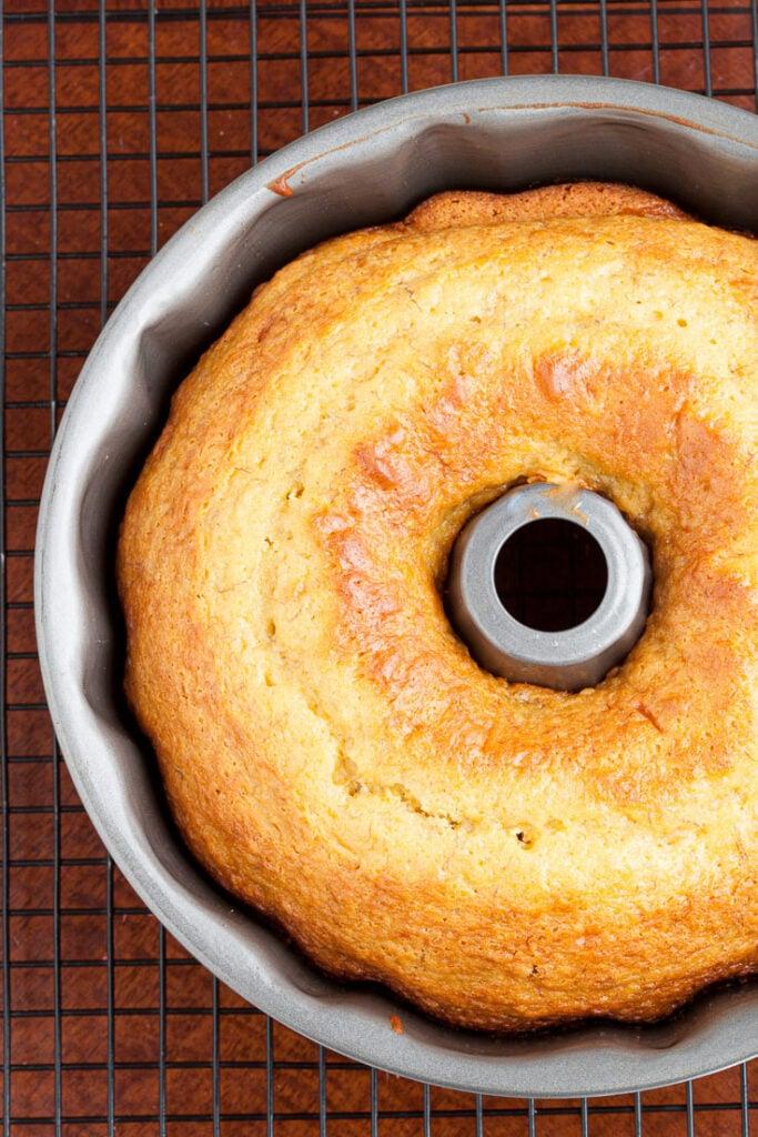 Banana Pudding Cake in Bundt Pan