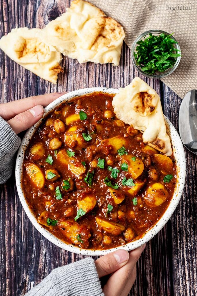 chickpea curry, curry, potato curry, vegan curry
